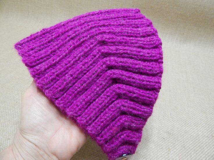 Banda para la cabeza elastica 2 x 2 tejida con agujas y estambre muy amplia en cualquier color .Con aguja # 8, que son 5mm, El estmbre de la banda roja es co...