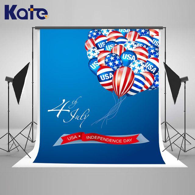 Kate 8x10ft drapeau américain décors l'indépendance jour bleu balloom fond pour enfants photographie shoot