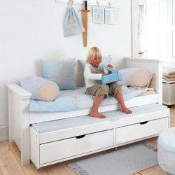 Lit enfant 90x200 avec lit gigogne et tiroirs ALFRED ET COMPAGNIE - Lit enfant