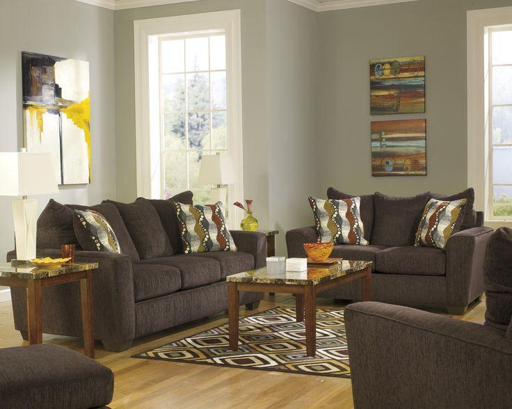 Sofa Loveseat 3 Tables 2 Lamps 1 Rug O Sectional Living Room SetsLiving