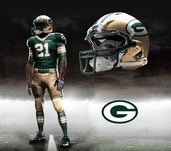 Green Bay Packers Nike NFL Pro Combat Uniform