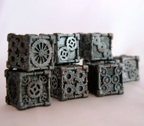 These Steampunk Style Dice Are Almost Too Pretty To Use - Really amazing!!!