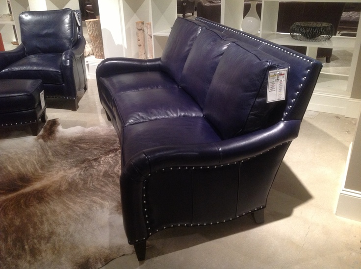 Navy Blue Leather Recliner Ethan Allenu0027s Take On Blue