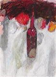 Hans Laabs - STILLEBEN MIT FLASCHE, 1961, Acrylic... on MutualArt.com