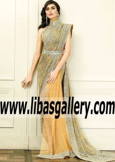 Gorgeous #FarazManan #farazmananmiddleeast #Imperial Amber Gold Hippeastrum Bridal Saree features Beautiful Embroidery and Embellishments for Formal and Wedding Functions- If you love stylish and elegant sarees that you can wear to special occasions, this saree is the perfect pick for you. #onlinestore #UK #USA #Canada #Australia #France #Germany #SaudiArabia #Dubai #UAE #Norway #Sweden #NewZealand #Austria #Switzerland #Denmark #Ireland #Netherlands #occasionwear #bridalsari #designersari…