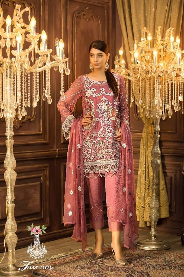 09457418e7 Fanoos by Adan Libas Chiffon Embroidered Collection. Designer Dresses for  Girls & Women. Visit