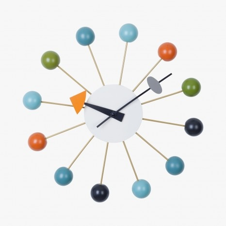 Horloge déco multicolore