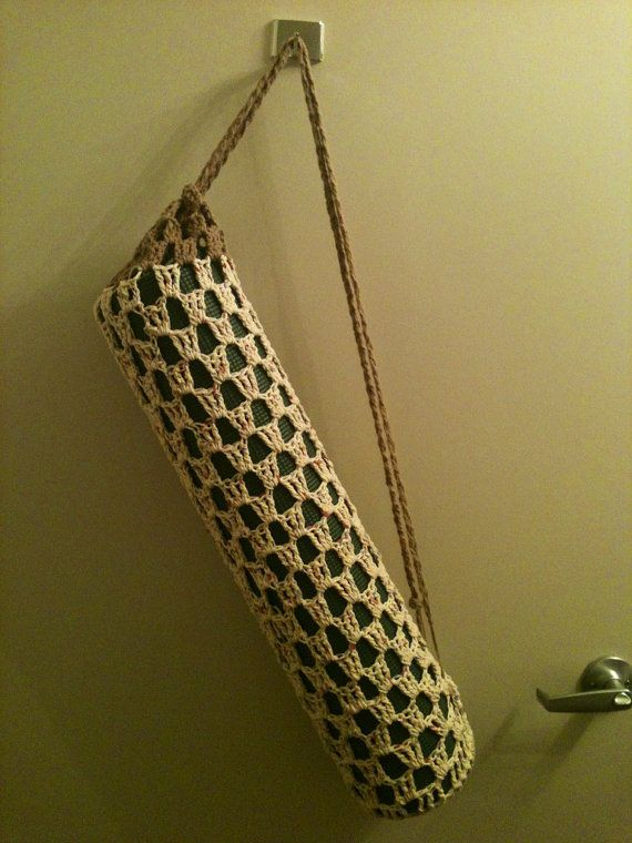 Free Crochet Pattern Yoga Mat Bag : Yoga Mat Bag Crochet Yoga Mat Bag Tan Yoga Bag Crochet Mat ...