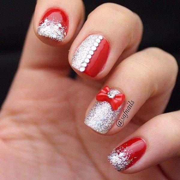 Bow Nail Art - 50+ Cute Bow Nail Designs