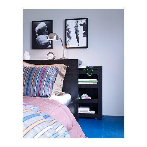 MALM Testiera/scaffale, 3 pezzi - marrone-nero, 160 cm - IKEA