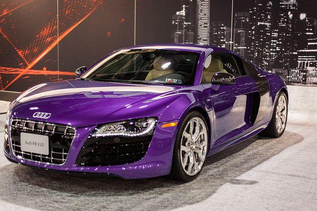 Purple Audi r8! I literally just died! <3