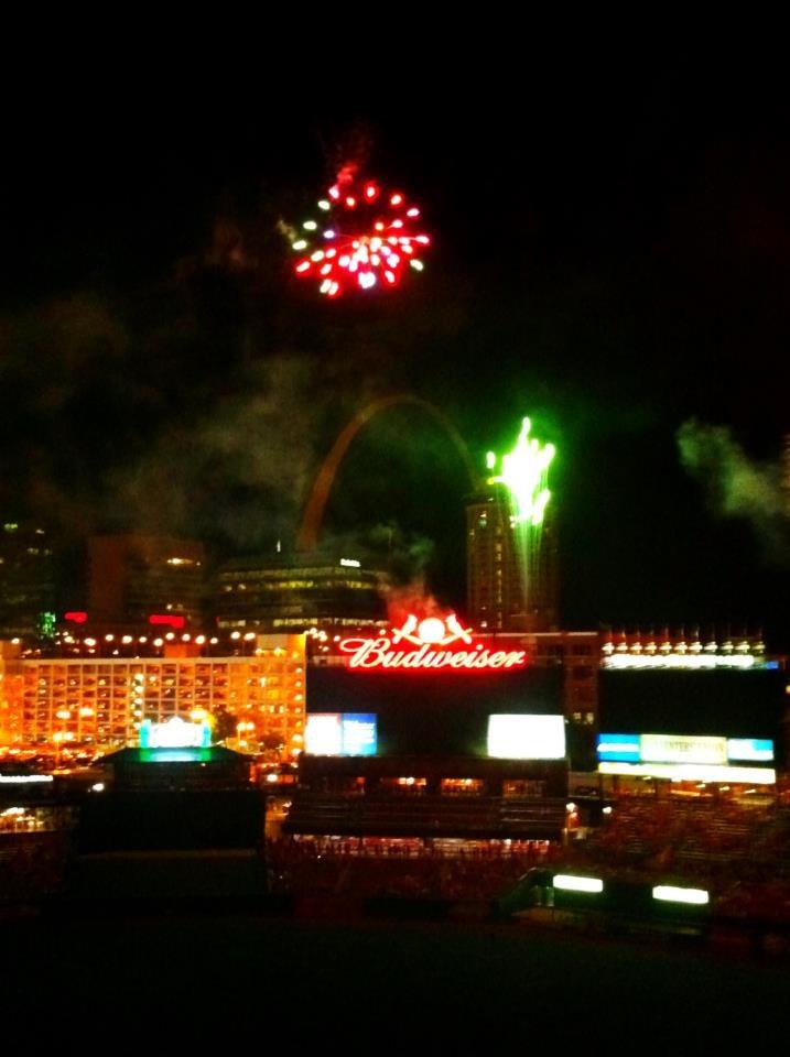 Fireworks over Busch!  Go Cards!!