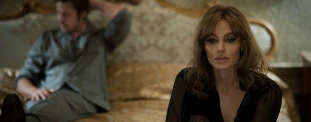 "Angleina Jolie and Brad Pitt in ""By the Sea."" (Merrick Morton/Universal Pictures via AP)"