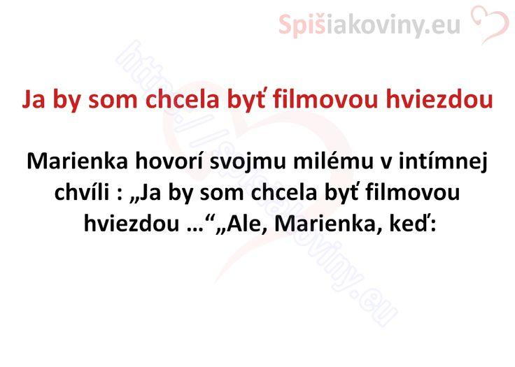 Ja by som chcela byť filmovou hviezdou - Spišiakoviny.eu