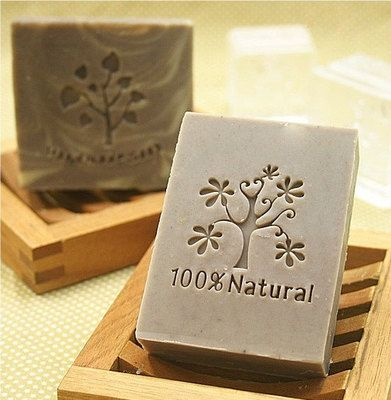 Tree Soap Stamp Seal Resin Soap Mold 100% Natural Letter Soap Stamp. $8.59, via Etsy.