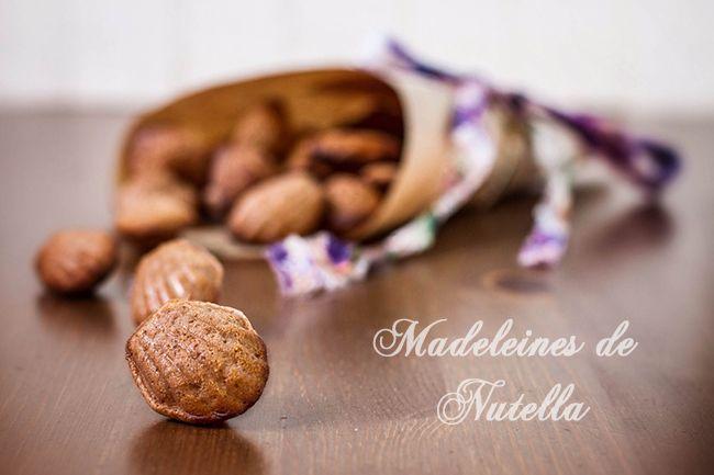receta de madeleines de nutella