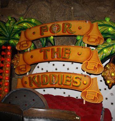 Vintage hand painted fairground sign