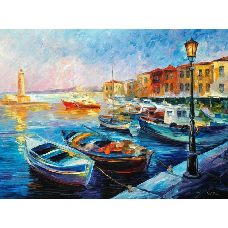 ==> [Free Shipping] Buy Best Contemporary art fishing boats knife oil painting canvas beautiful landscape pictures for wall decor Online with LOWEST Price | 32805009542