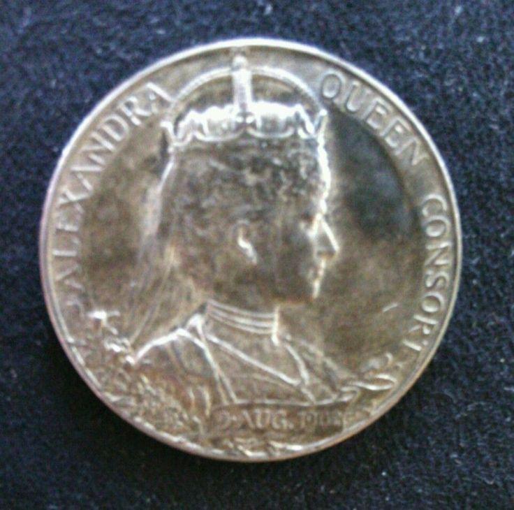 Vintage Silver Coronation Medal Alexandria Queen Consort 9 August 1902 Edward      eBay