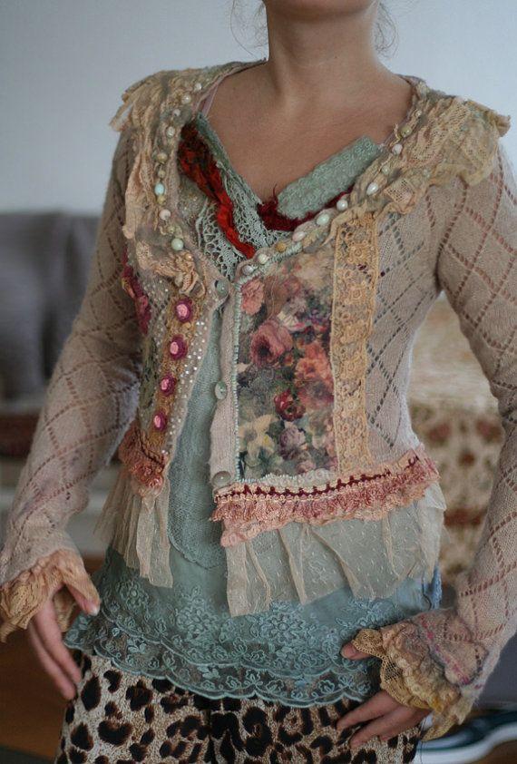 Resereved to ToniaWanderess cute reworked vintage by FleurBonheur