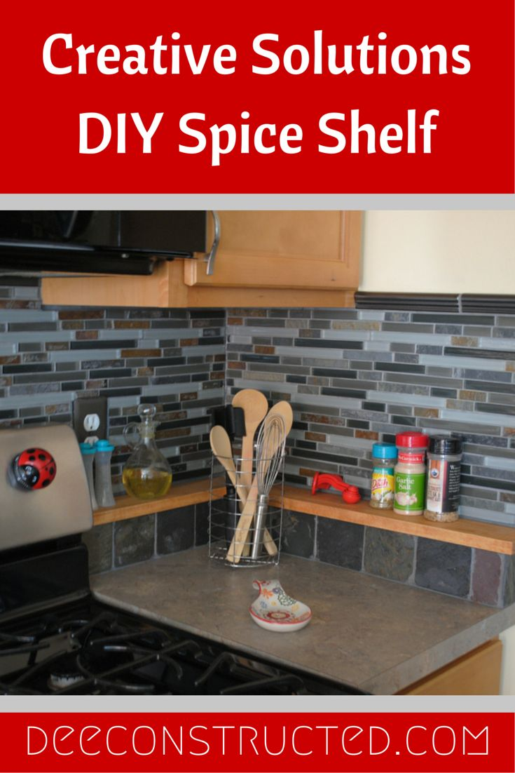 DIY Spice Shelf #diy solutions from deeconstructed.com