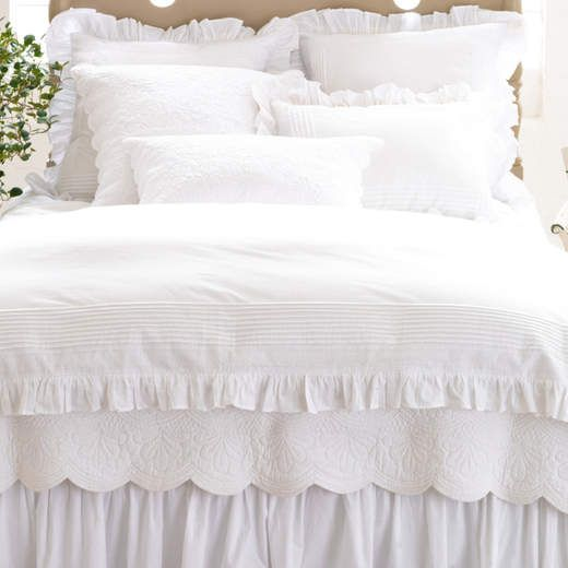 17 Best images about White Bedding on Pinterest White decorative pillows, Bed linens and White ...