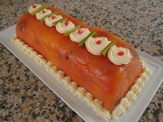 Pastel de salmón y langostinos