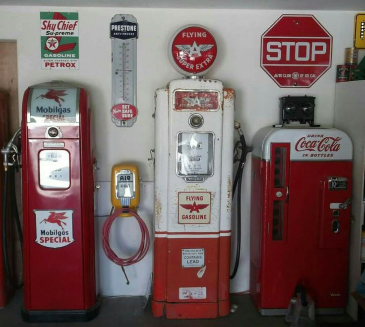 Original Mobil & Flying A Gas Pumps