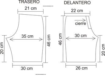 un molde sencillo para hacer shorts