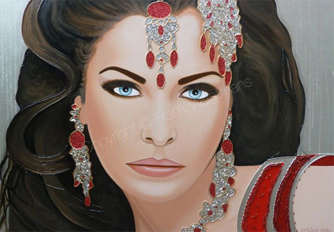 Groot Schilderij Portret Vrouw