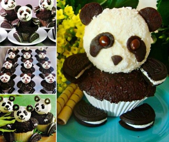 Oreo Panda Cupcake Tutorial  What a great idea......