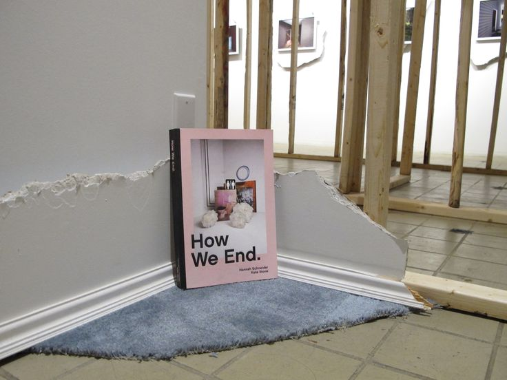 """""""How We End"""" a collaborative book of short stories of ending relationships by artist Kate Stone and Writer Hannah Schneider, available for purchase at Aljira.  Kate Stone: Every Straight Line is the Arc of a Great Circle is on view until April 22, 2017."""