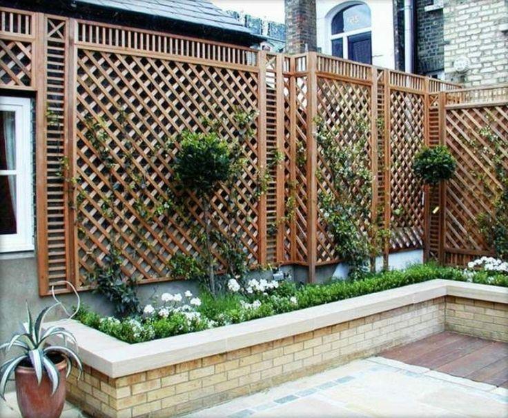 1000 id es propos de des panneaux de cl ture sur pinterest banc de pots de fleurs - Cloture de jardin chataignier ...