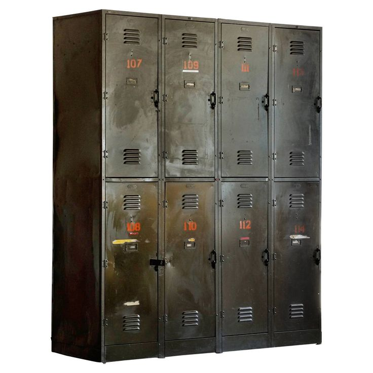 Massive Vintage Locker Unit from the DOD, circa 1940s | From a unique collection of antique and modern cabinets at https://www.1stdibs.com/furniture/storage-case-pieces/cabinets/