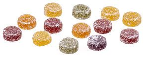 Rowntree's Fruit Pastilles - the black one will always be my favorite!