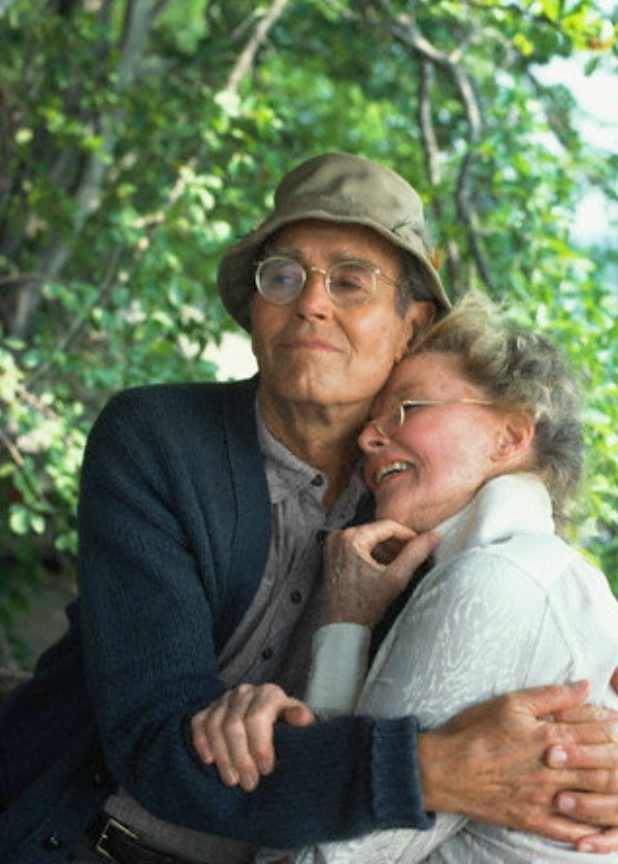 """Listen to me, mister. You're my knight in shining armor. Don't you forget it. You're going to get back on that horse, and I'm going to be right behind you, holding on tight, and away we're gonna go, go, go!"" from ""On Golden Pond"" (1981) - Henry Fonda & Katherine Hepburn i"
