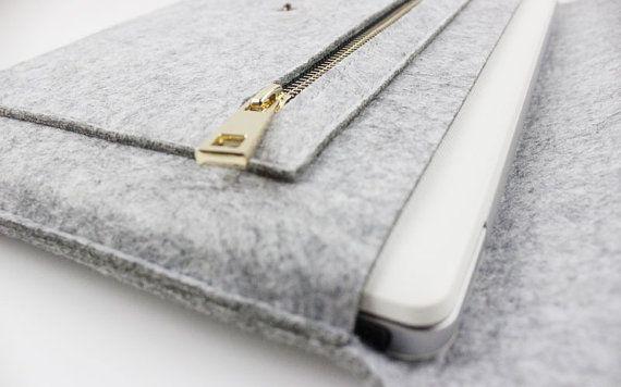 Zipper Felt Macbook 15 pro retina sleeve, Macbook 15 pro retina case, 15 inch…