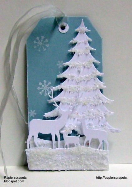 The tag of the white forest by papierscrapetc - Cards and Paper Crafts at Splitcoaststampers