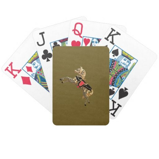 Sadie Grey Spotted Golden Horse Bicycle Playing Cards