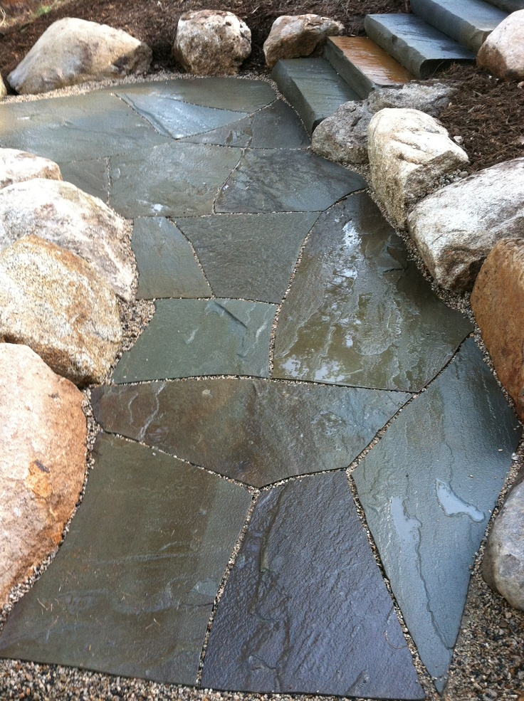 40 best natural stone work images on pinterest   stone work ... - Permeable Patio Ideas