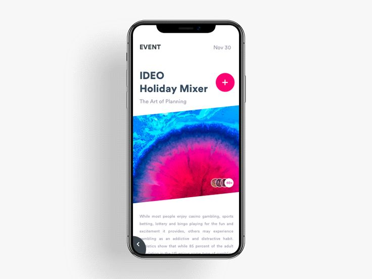 App for Design community to attend the creative agency events --------------------------------------------------------------------- Checkout Some free resources: 1.) 100 Premium Interaction coll...