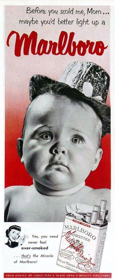 Marlboro Cigarettes Baby Advert 3