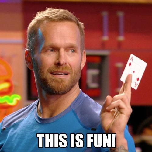 Bob Harper's deck of cards workout from the Biggest Loser...diamonds=sit ups, spades=squats, hearts=push ups, clubs=burpees. Draw each card one by one and perform the exercise the number of times indicated by the card (face cards=10, ace=11). Trying this tomorrow=)