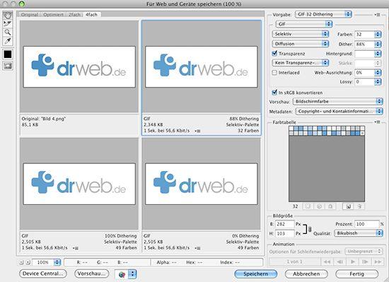 Bilder mit Photoshop für den Export ins Web optimal aufbereiten (1) - Dr. Web