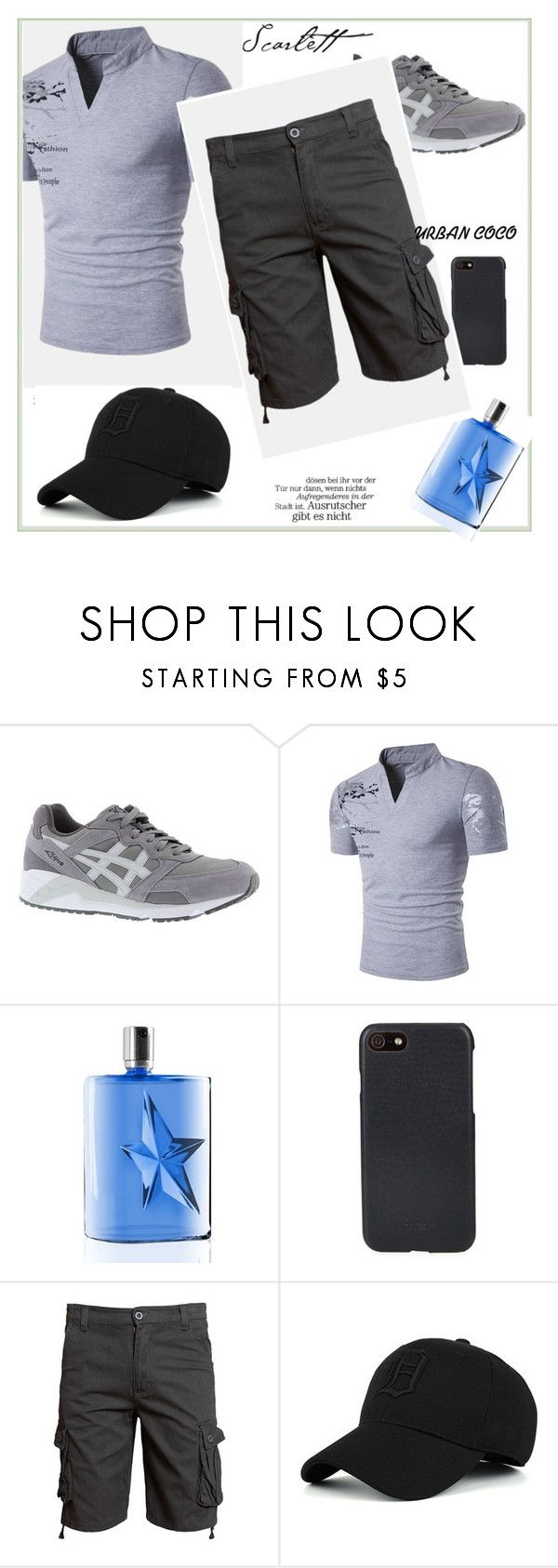 """Style for men #49"" by infinity-em ❤ liked on Polyvore featuring Asics, Thierry Mugler, Shinola, men's fashion and menswear"
