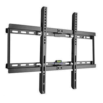 15,98€ - Ultra Delgado soporte de pared para TV Televisor 32-70 pulgadas de pantalla plana(LED LCD Plasma 4K 3D) Máx Vesa 600x400, Hasta 55kg, Negro, Soporte para LG Sony Philips Sumsung etc, con Nivel de Burbuja