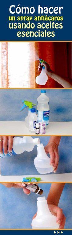 #cómohacer un #spray #antiácaros usando #aceites #esenciales #trucos #DIY #hogar