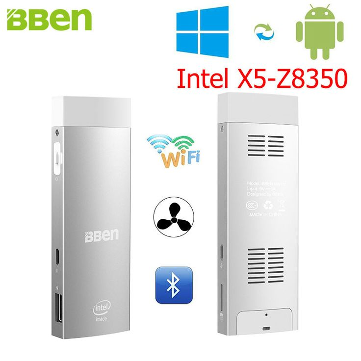 BBen Mini PC Intel Z8350 Windows 10 & Android 5.1 RAM 2G ROM 32G HDMI Stick Windows Mini PC Pocket Computer WiFi BT4.0 USB3.0