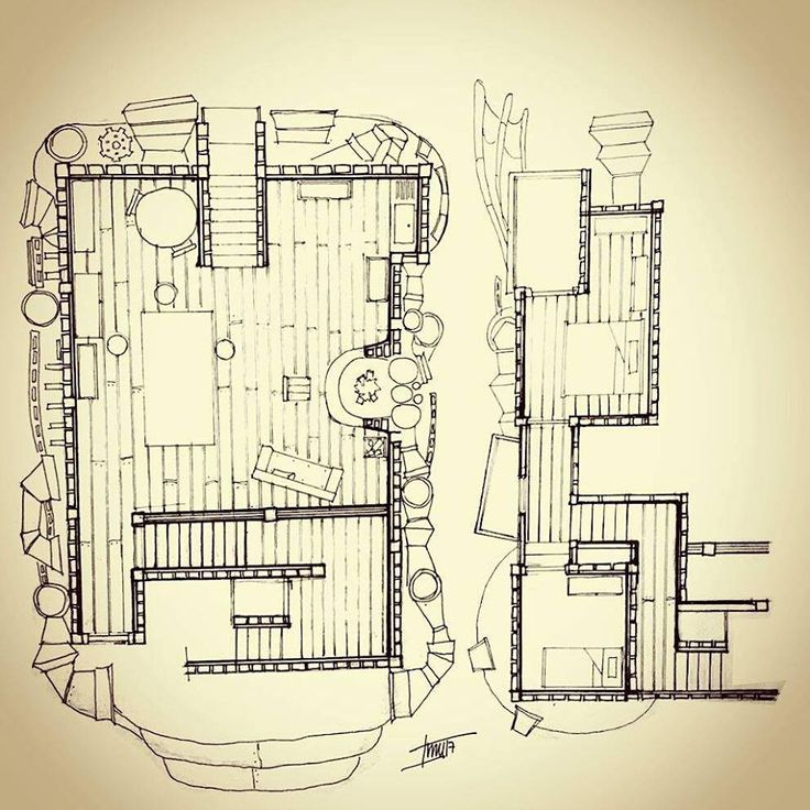 Planimetria, planta 1-2-3- Howl no Ugoku Shiro / ハウルの動く城 / El castillo ambulante -Studios Ghibli- (camiconcas /arq_cfcc)