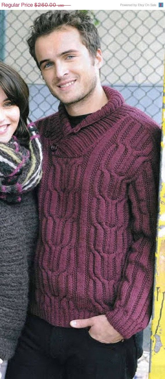 10 OFF SALE MADE To Order men's sweater hand by LuxuryKNITTING2013, $234.00
